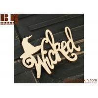 Unfinished Wood Laser Cut Wicked Cutout wooden Halloween craft and decorations Manufactures