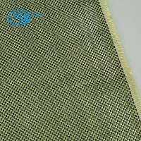 carbon kevlar hybrid cloth, Red permanent flame retardant armaid and kevlar fabric for clothing Manufactures