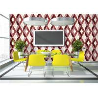 Geometric Print 3D PVC Wallpaper Waterproof For TV Wall Background , Eco Friendly Manufactures