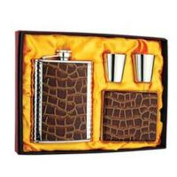 China Stainless steel hip flask gift set on sale