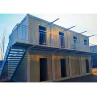Ballroom / Bar Portable Shipping Container Homes Two Stories With External Stairs Manufactures