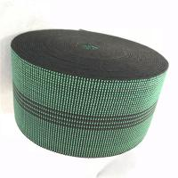 China 3 Inch Covered Threads Elastic Rubber Upholstery Webbing For Function Sofa In Green Color 460B# on sale