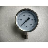 4 All Stainless Steel Pressure Gauge with Explosion proof Hole , 0 - 1500 psi Pressure Gauge Manufactures