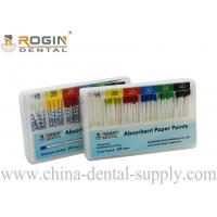 China Colour Coded 2% 4% 6% ISO Size Absorbent Paper Points Endodontic Material F1 F2 F3 on sale