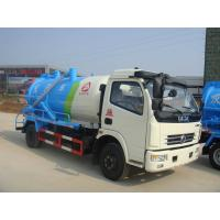 Dongfeng Cummins Sewage Suction Tanker Truck / Vacuum Cleaner Truck 3CBM To 5CBM Manufactures