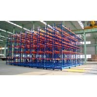 Electrical Mobile Racking Automated Warehouse System With Rail Steel Q235 Material for sale