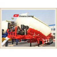 V Shape Tri Axle Bulker Cement Cement Silo Trailer With Diesel Air Compressor Manufactures
