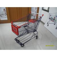 Asian Type 150L Wire Mesh Grocery Store Shopping Carts With 5inch TPE caster Manufactures