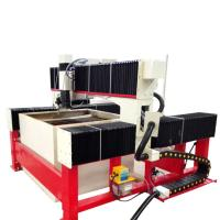 China 1300*1300mm 420Mpa CNC laminated glass water jet cutting machine with CE on sale