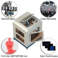 High Accuracy Industrial 3D Printing Machine 600x600x600 Mm Dimension Manufactures