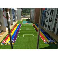 Monofilament PE Synthetic Sports Turf Diamond Shape 30 Mm Height Green Color Manufactures