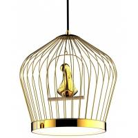 China Classical / Contemporary Bird Cage Round Pendant Light For Living Room on sale