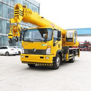 China 12 Ton Telescopic Boom Truck Crane Manual Hydraulic 12000KG Span 6600*5100mm on sale