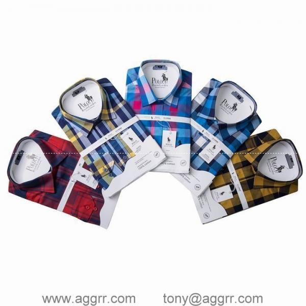 Quality POLO long sleeve shirts men shirts plaid shirt designed shirts for sale