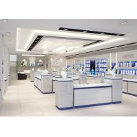 Modern Nice White Showroom Display Cases / Jewelry Display Cases Custom Logo Manufactures