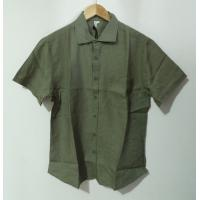 Summer 100 Percent Hemp Short Sleeve Shirts Button Placket Machine Wash Manufactures