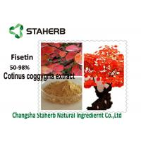 Smoke Tree Organic Plant Extracts 50-98 % Fisetin Powder Cotinus Coggygria Extract Manufactures