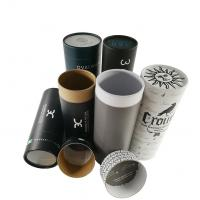 Custom Cylinder cardboard skin care paper tube packaging kraft tube package for clothes Manufactures