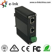 Quality E- Link Gigabit Power Over Ethernet Injector 12~48VDC Power Input DIN Rail / for sale