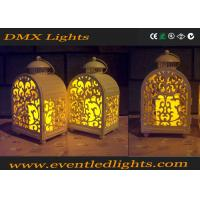 Yellow Wedding / Banquet Led Flameless Candles Decorative With Moving Flame Manufactures