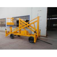 China Yellow Crank Arm Hydraulic Man Lift , 150 - 500kg Load Telescopic Boom Lift on sale