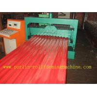 CE Corrugated Roof Panel Roll Forming Machine PANASONIC Transducer For Chain Drive Manufactures