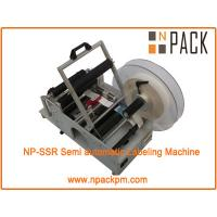 China semi automatic labeling machine for round bottles, cups on sale