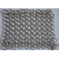 High Precision Wire Mesh Scrubber / Cast Iron Chain Cleaner Polishing Surface Manufactures