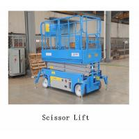 China 3.5km/H Lifting Speed Vehicle Scissor Lift , Self Propelled Electric Scissor Lift Steel Material on sale