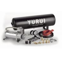 Black And Silver Steel Onboard Air Systems Air Compressor With Tank 12V For Car Tuning Manufactures