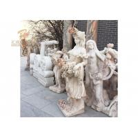 China Life Size Hand Carved Marble Lady Statue on sale
