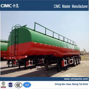 3 axles fuel tanker semi trailer , 42000 liters fuel tank semi trailer Manufactures