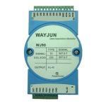 WAYJUN Eight channels  DI/DO Ethernet switch to RJ45,Modbus TCP blue switch digital to MODBUS TCP DIN35