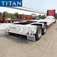 China 2 line 4 Axle Low Loader 80 Tonne Low Bed Truck for Sale in Nigeria on sale