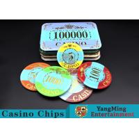 Customizable Casino Poker Chips of Crown Bronzing Rectangular / Round Shape Manufactures