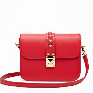 Hot Sale Designer Single Strap Handbags For Ladies , Red Shoulder Tote Bag Manufactures