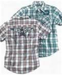 Fashion short sleeve yarn dyed fabric kids plaid  shirt manufacturers for boys of 3-7 Y Manufactures