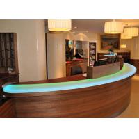 Pearl Glossy Decorative Jade Stone Countertops / Bar Tops For Hotel Manufactures