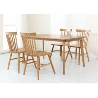 Solid Oak Kitchen Hotel Dining Table And Chairs Strong Structure Classic Style Manufactures