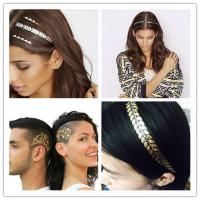 China temporary hair tattoo sticker gold color hair tattoo on sale