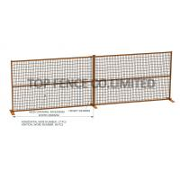 Temporary Construction Security Fence 6' x 10' Ottawa 1830mm height x 2900mm width 1'x1' pipes with 16Ga mesh 2x4