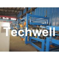 China 32KW, 50 - 250mm Rock Wool Insulated Sandwich Panel Line Machine For Prefabricated House on sale