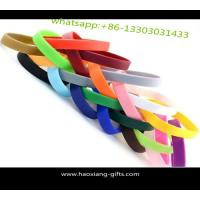 Wholesale cheap price logo printing custom promotion recycled silicone wristband Manufactures