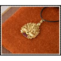 Peafowl Pendant Necklace With 999.9 Percent Gold Foil Inside , 24K Gold Plated Jewelry For Girlfriend Manufactures