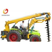 China 100HP 8 Ton Tractor Crane Tower Erection Tools With Earth Auger on sale