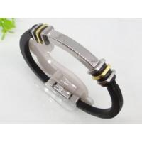 Custom Designed Stainless Steel Rubber Silicon bangle Bracelets 1750015 Manufactures
