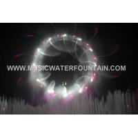 RGB Color Stainless Steel Water Screen , Customized Fire Big Scale Water Show Manufactures