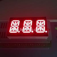 Ultra Red Triple Digit Alphanumeric Led Display , 0.54 Inch 14 Segment Display Manufactures