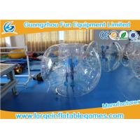 Inflatable Transparent Human Knocker Soccer Body Bumper 1.2m / 1.5m / 1.8m Manufactures