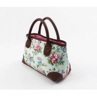 China Modern Colorful Canvas Floral Bag Tote Handbags For Spring / Summer / Autumn on sale
